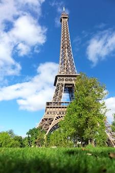 Eiffel tower -view from the champs de mars.paris, france