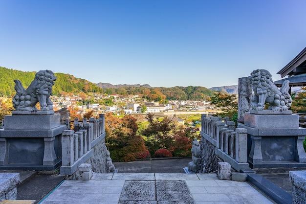 Осенние листья храма эйгендзи момидзи в префектуре ибараки