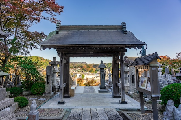 Eigenji momiji temple fall leaves at ibaraki prefecture in autumn