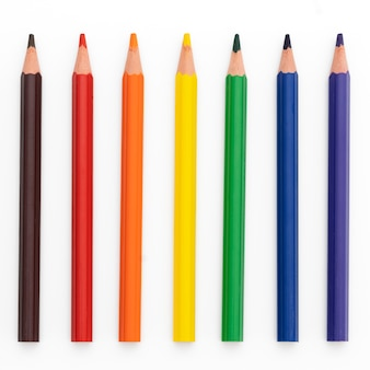 白の8色鉛筆