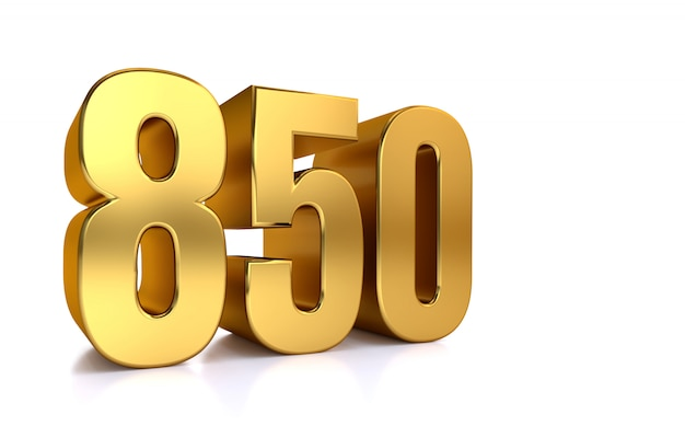 Eight hundred fifty, 3d golden number 850