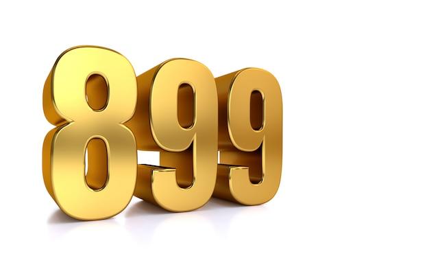 Eight hundred ninety-nine, 3d golden number 899
