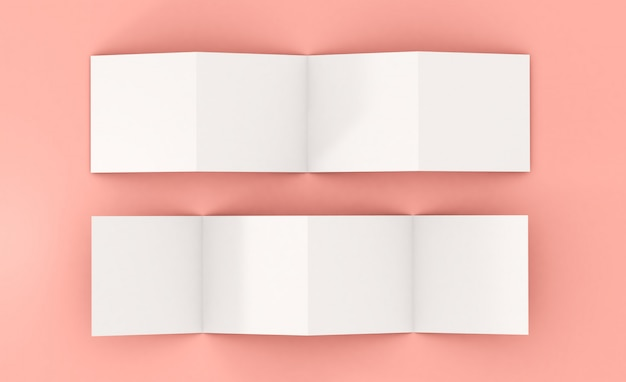 Восемь страниц макета листовки