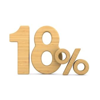 Eighteen percent on white