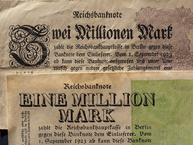 Eine und zwei million mark (one and two million mark) notes
