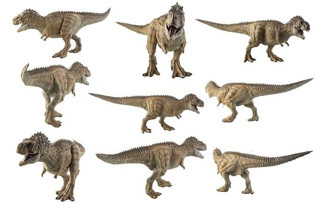 白い背景の上のエクリクシナトサウルスエピタフ恐竜。