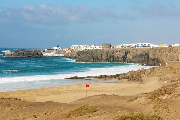 El cotillo beautiful landscape in fuerteventura, canary islands