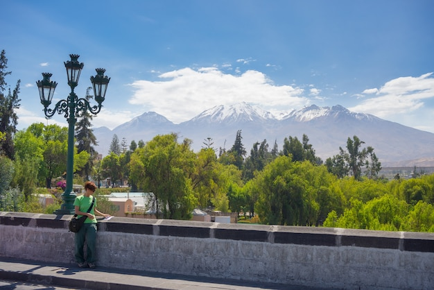 El misti volcano, getting around in arequipa, peru