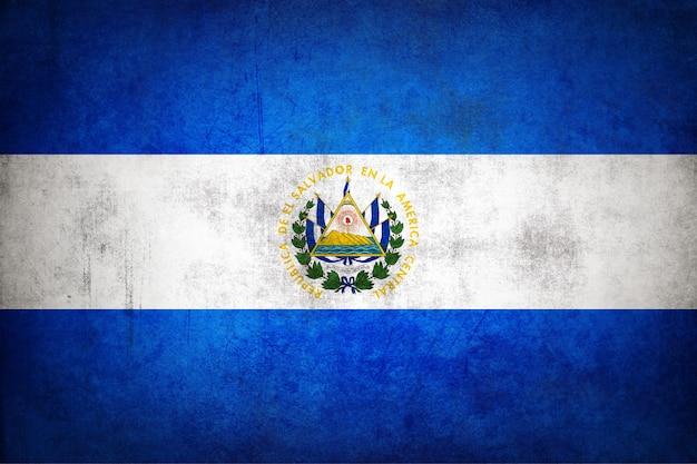 El salvador flag with grunge texture.