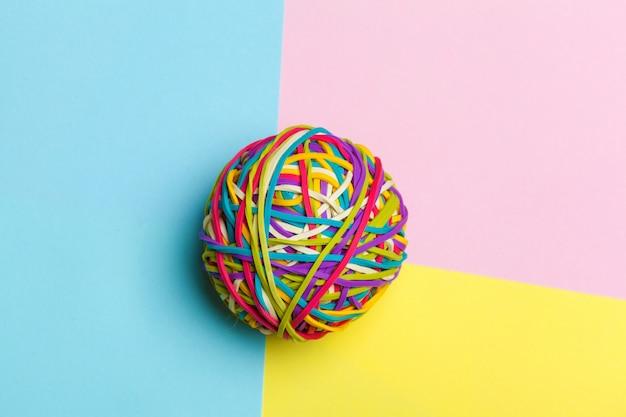 Elastic bands ball background