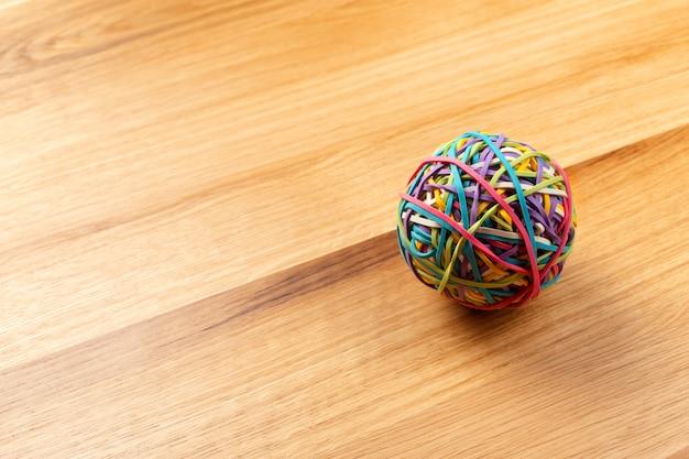 Elastic bands ball