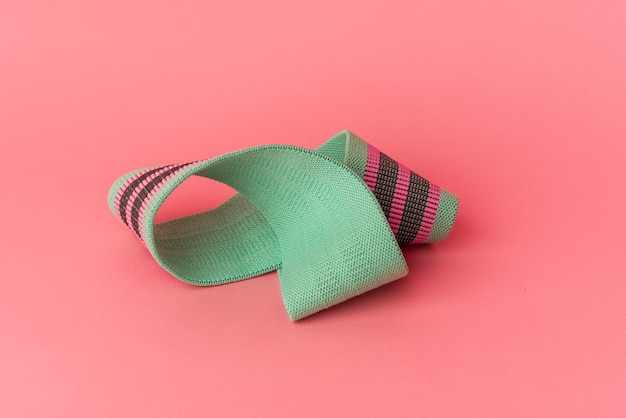 Elastic bands isolated on pink background