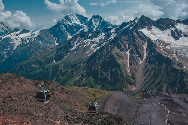 Elbrus, mountains in summer. greater caucasus mountains from mount elbrus