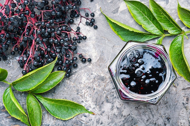 Elderberry autumn jam