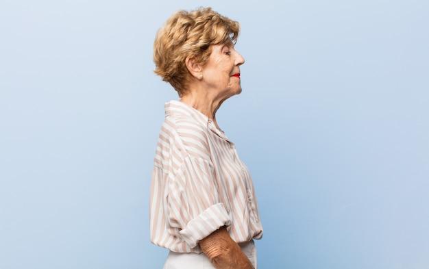 Elderly beautiful woman portrait