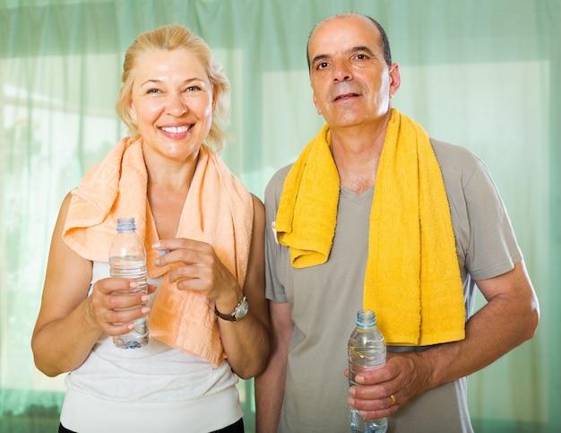 Elderly couple after training