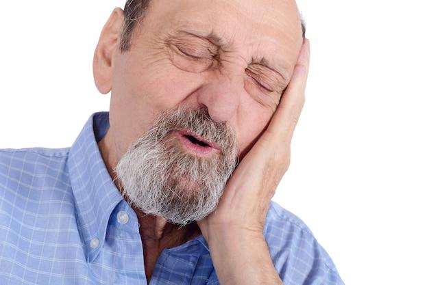 Eldery man worried