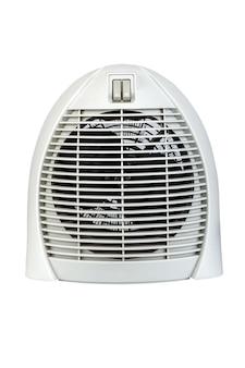 Электрический воздухонагреватель с вентилятором, изолированные на белом фоне