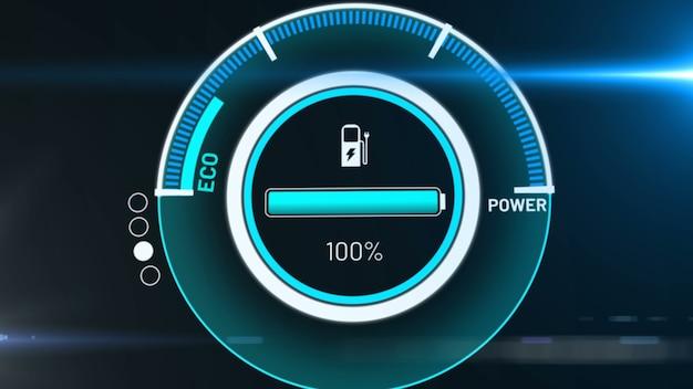 능동 충전 비전 대시 보드의 전기 자동차 배터리