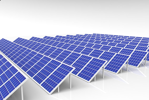 Electric energy generator system, solar cells panels field farm industry