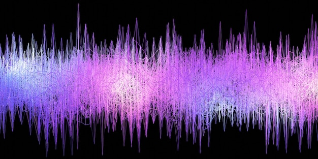 Electric energy wave sound wave geometric abstract background 3d rendering