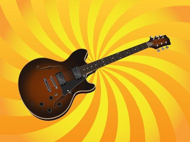 Electric guitar music concert vector