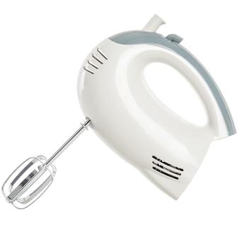 Электрический ручной миксер, изолированные на белом фоне
