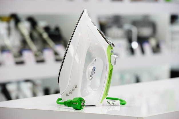 Electric iron in retail store