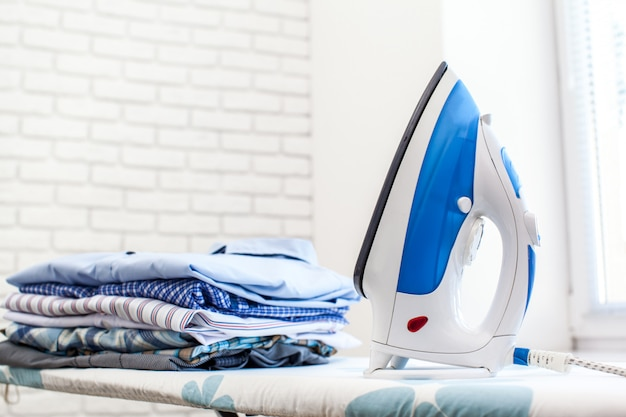 Electric iron and shirts