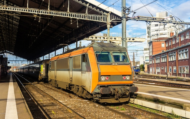Electric locomotive at toulouse station - france