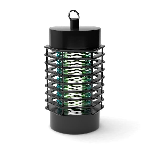 전기 모기 트랩. 곤충 보호. 흰색 배경에 고립. 3d 렌더링.