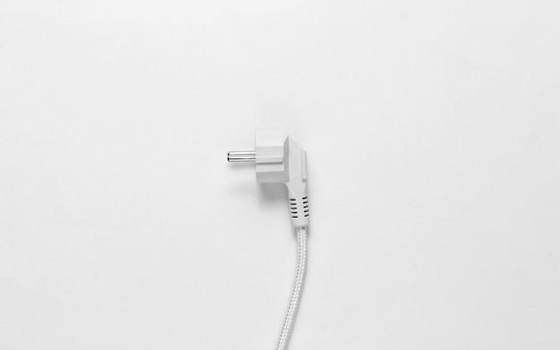 흰색보기에 전기 플러그 프리미엄 사진