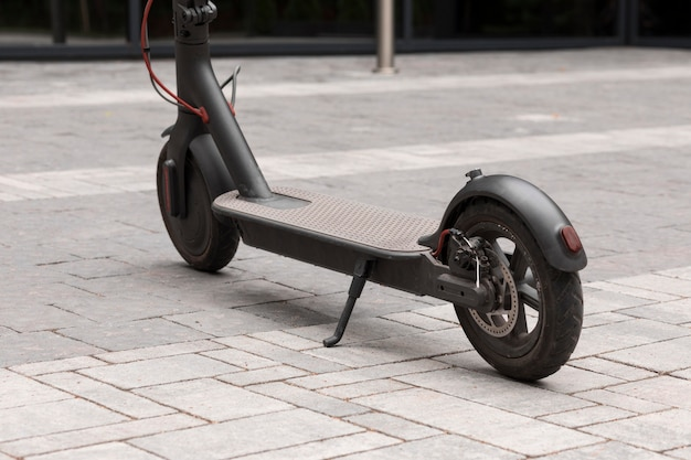 An electric scooter on the street