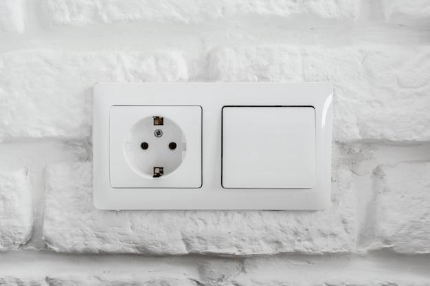 Electric socket closeup
