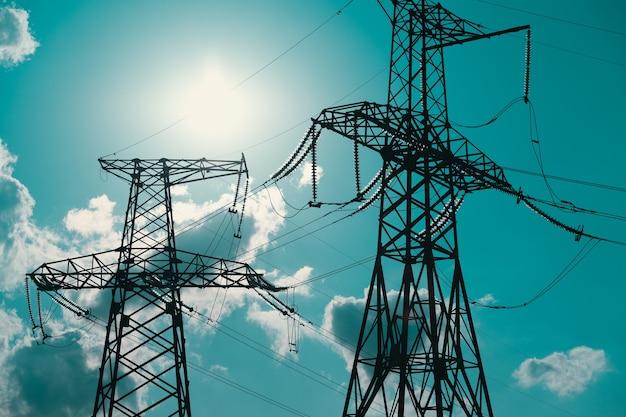 태양에 대한 고전압 절연체로 고전압 전원 케이블 금속 지지대의 전기 지원 ...
