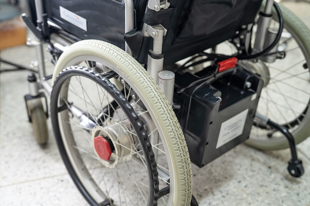 Electric wheelchair with battery for old patient cannot walk or disable people.