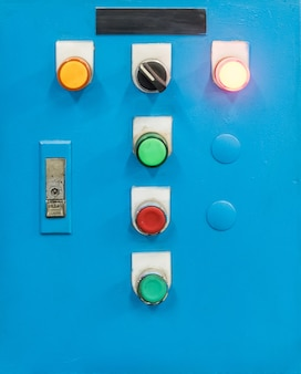 Electrical control box with the switch button.