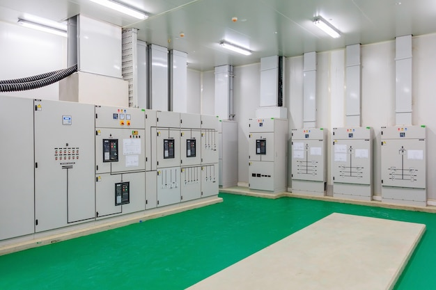 Electrical energy distribution substation in a new factory plant