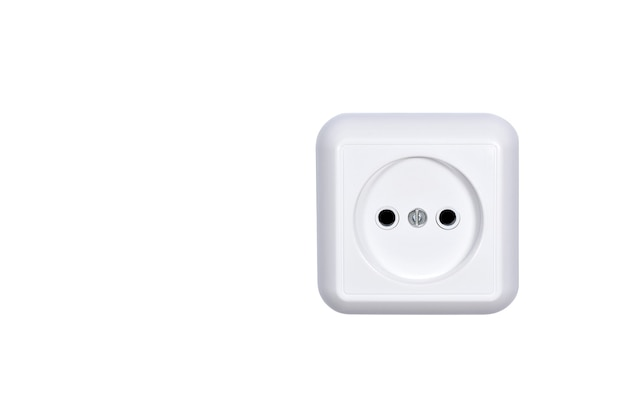 Electrical power socket isolated on white