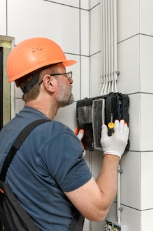 Electrical work indoors