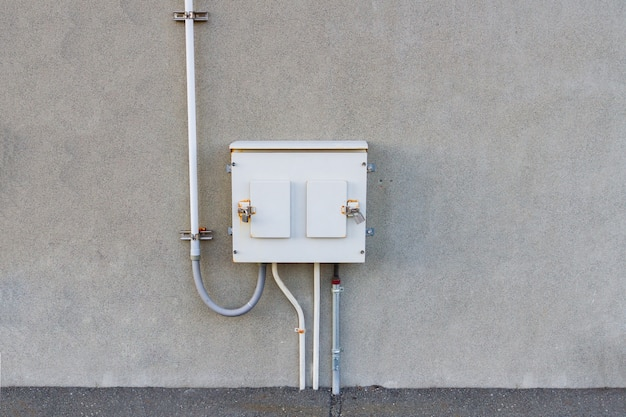 Electricity control box on wall