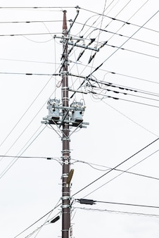 Electricity post at japan