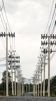 Electricity transmission line from the power source