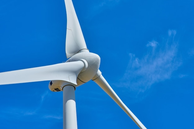 Electricity wind generators for renewable energy and environment concept