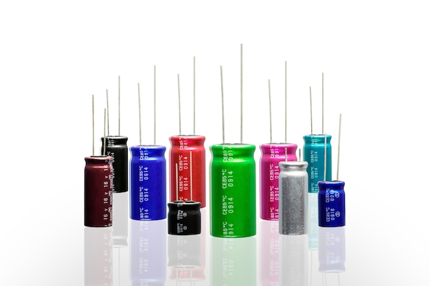 Electrolytic capacitors with multi color and many size.