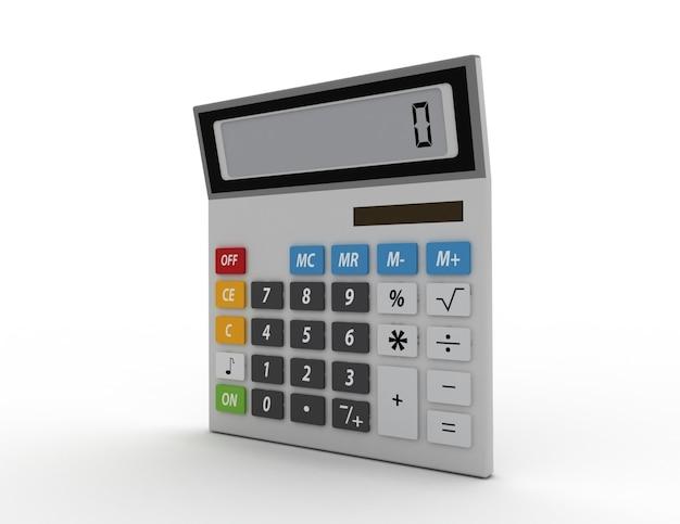 흰색 배경에 고립 된 전자 계산기