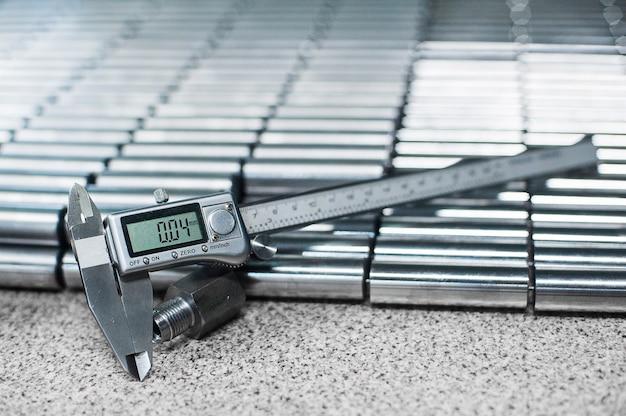 Electronic caliper. close up, depth of field, selective focus