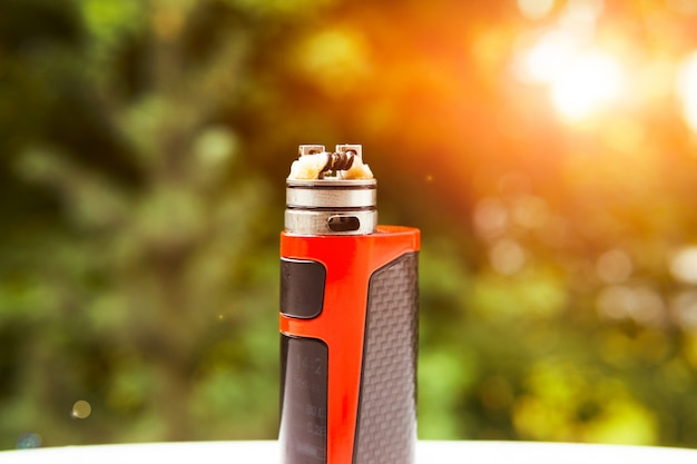 Electronic cigarette in nature