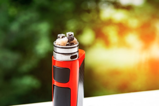 Electronic cigarette on nature