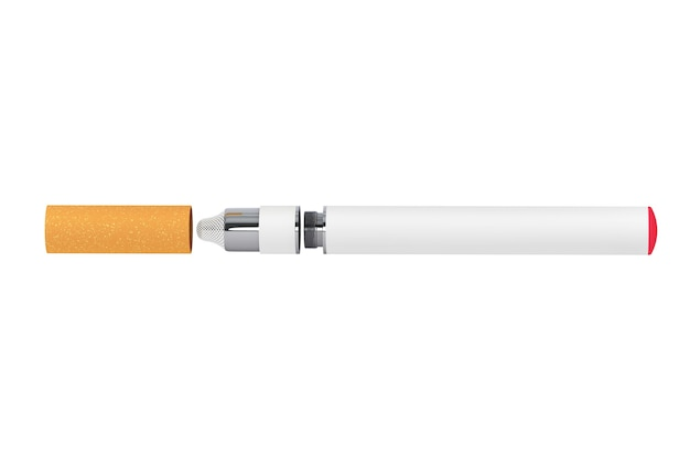 Electronic cigarette on a white background